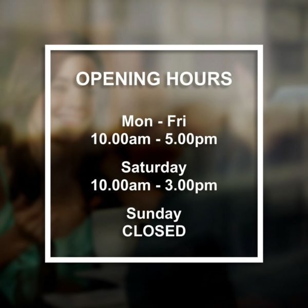 iproduction opening hours sticker