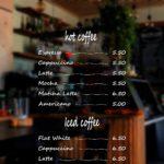 iproduction menu price list on window