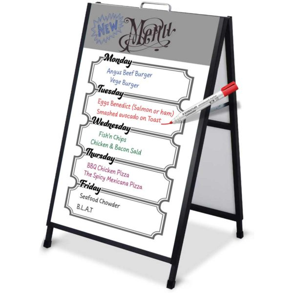 iproduction sandwich board with whiteboard feature image